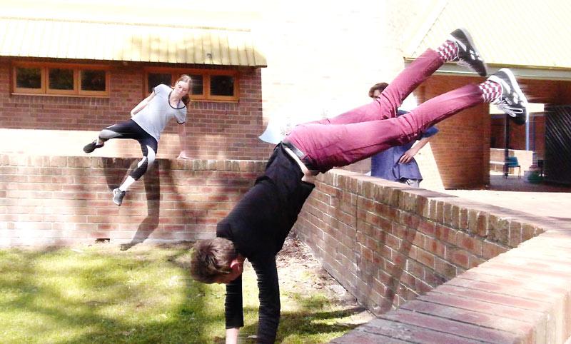 Barker College Parkour Camp Jump Squad