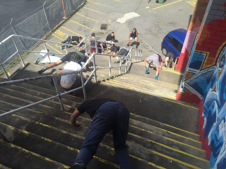 Parkour instructor training with PCYC and Jump Squad