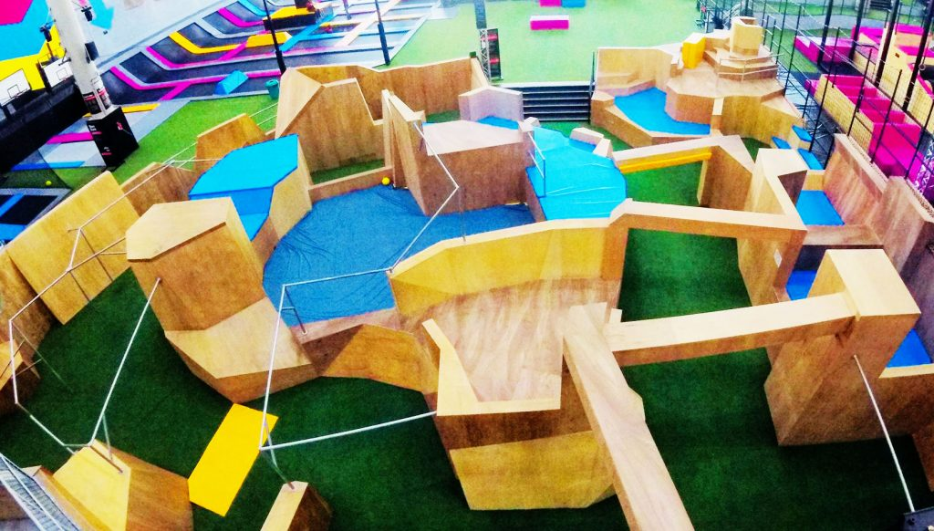 Parkour gym design Bounce Doha Qatar