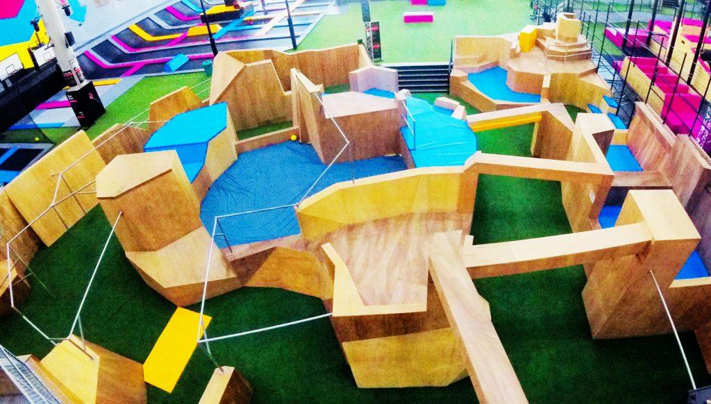 Parkour gym design Bounce Doha Qatar